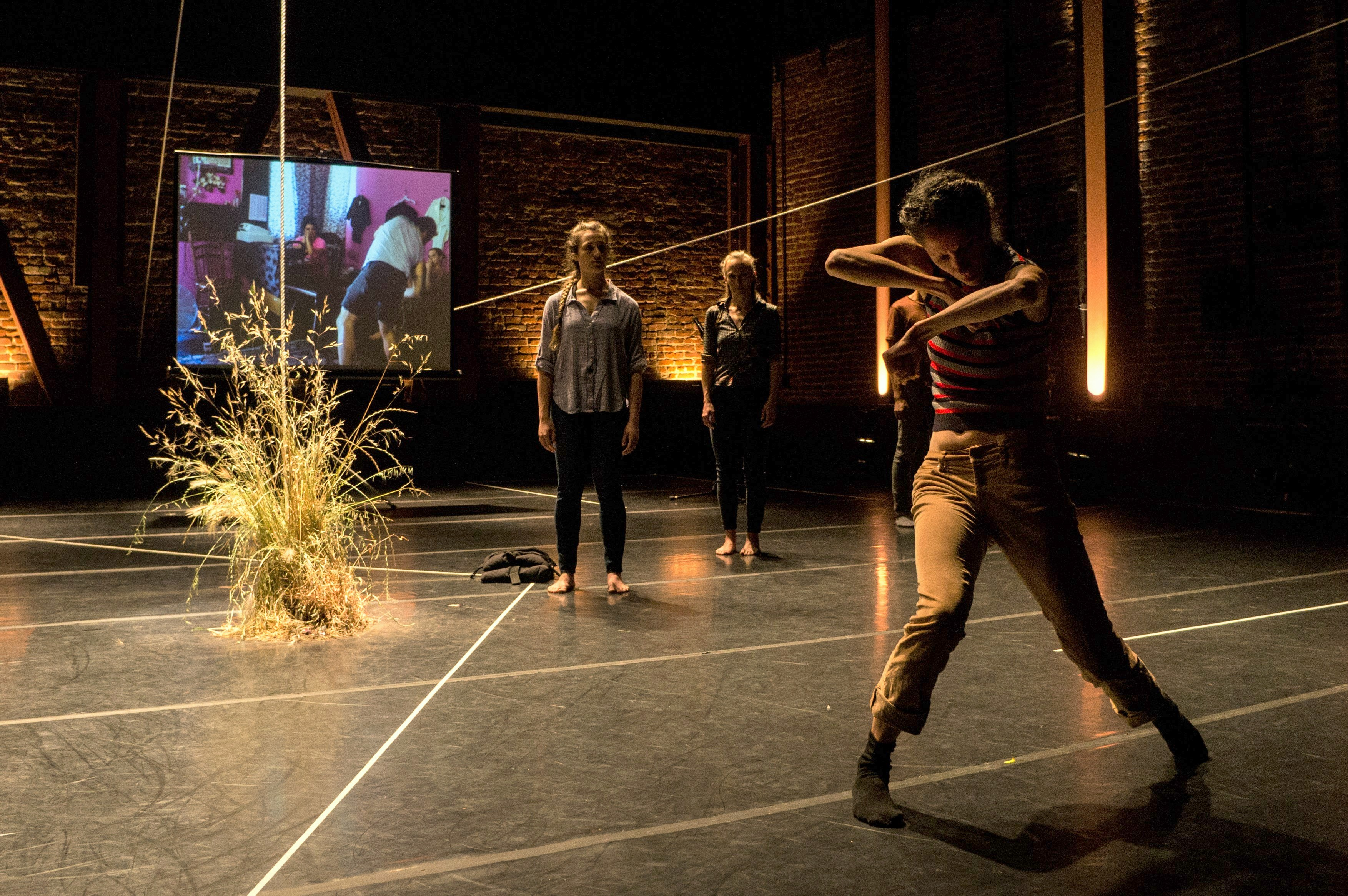 Macintosh HD:Users:joanna:Desktop:From left, Aline Wachsmuth, Katie Faulkner and, downstage, Maurya Kerr in The Foundry's Deep South. Photo by Oxana Ermolova.jpg